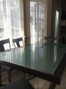 Velour Glass Tabletop